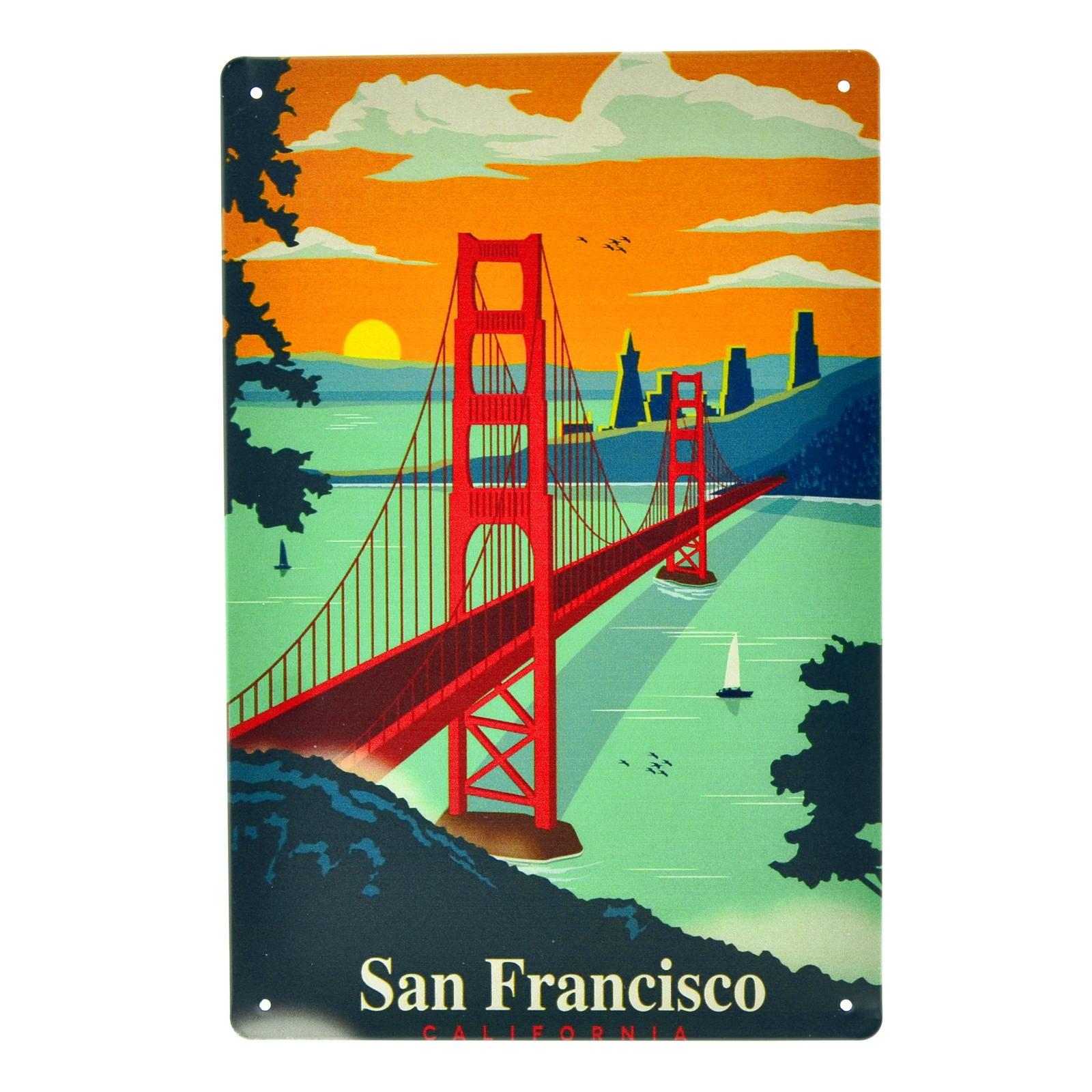 Cartel Metálico de San Francisco