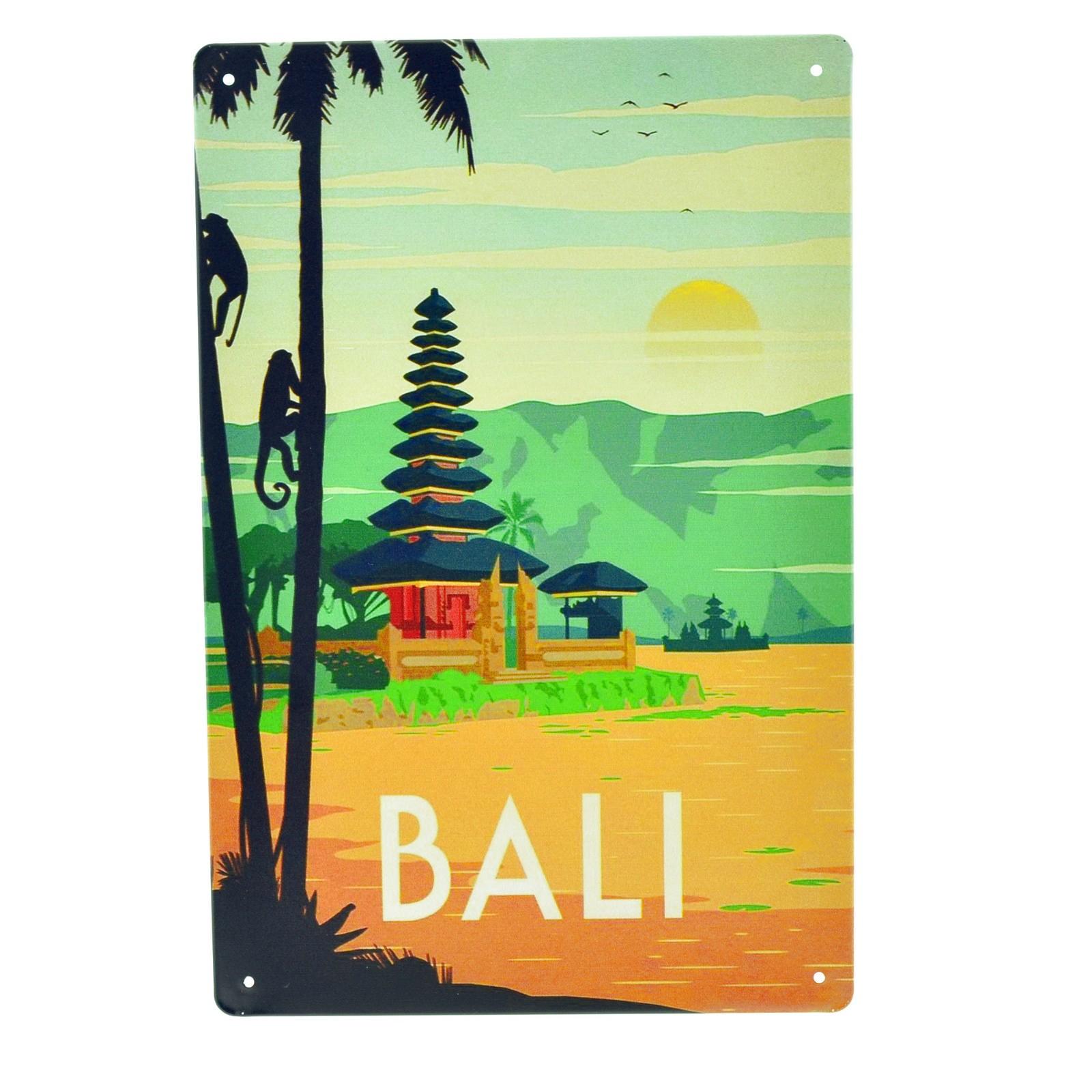 Cartel Metálico de Bali