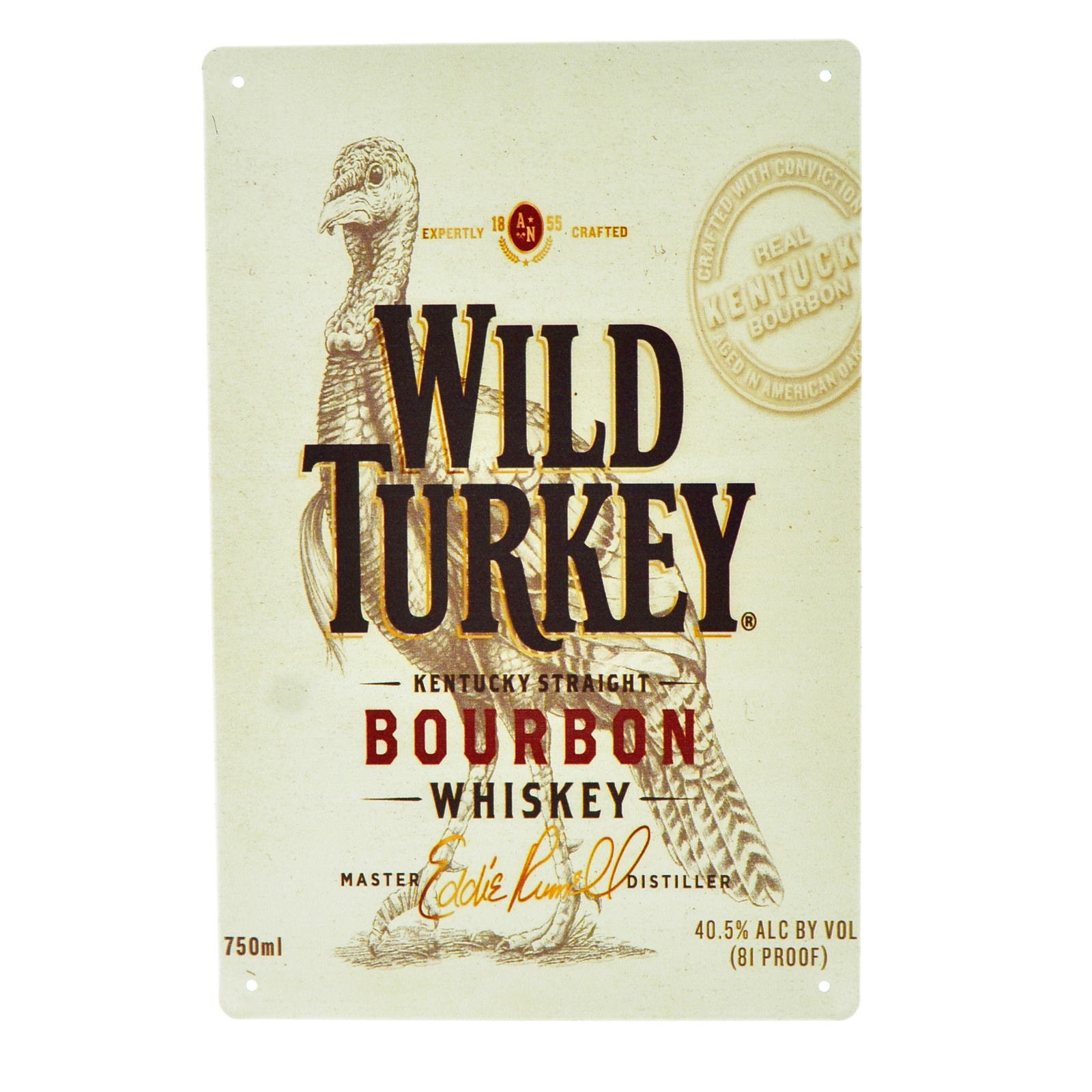 Cartel Metálico de Wild Turkey