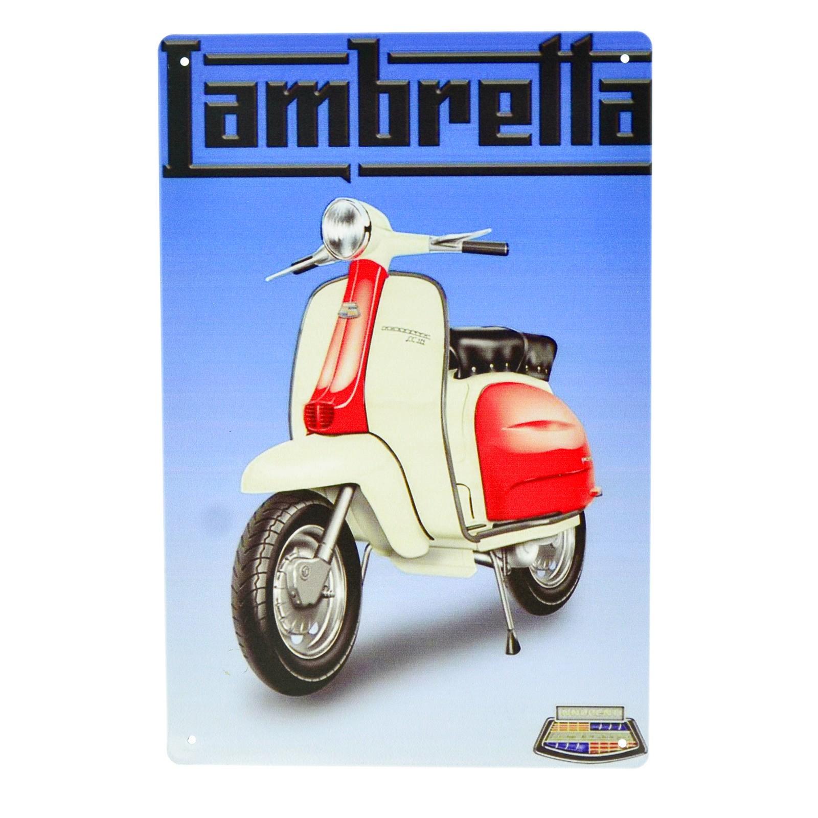Cartel Metálico de Lambretta