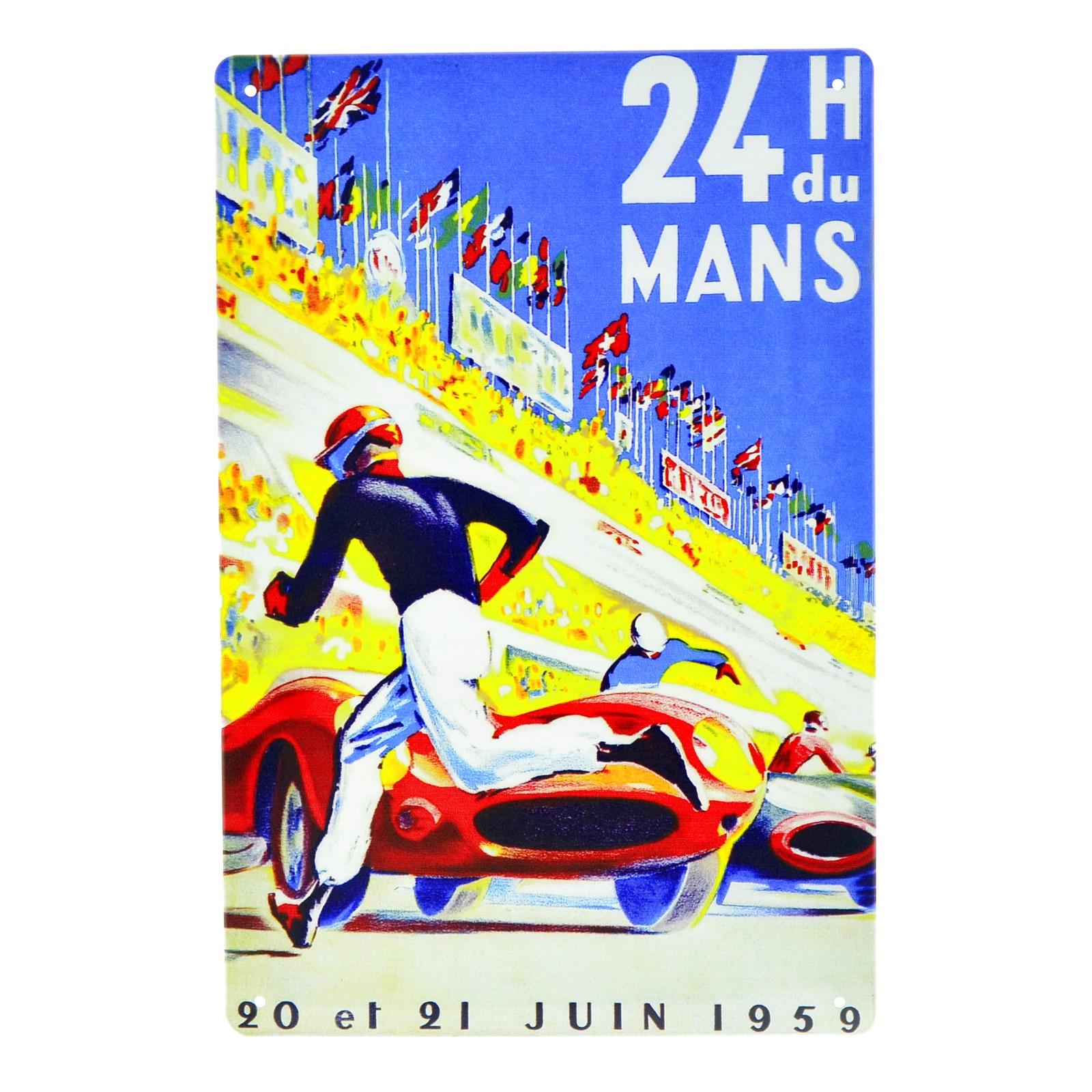 Cartel Metálico de 24 h Le Mans 1959