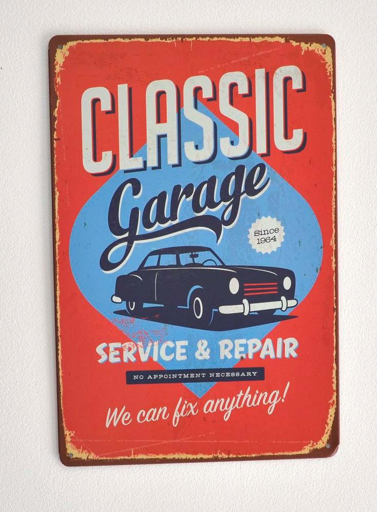 Cartel Metálico Classic Garage