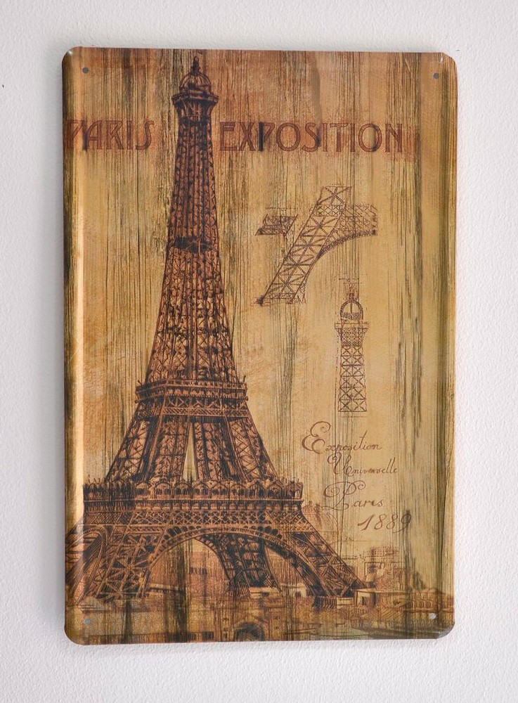 Cartel Metálico Paris Exposition 1880