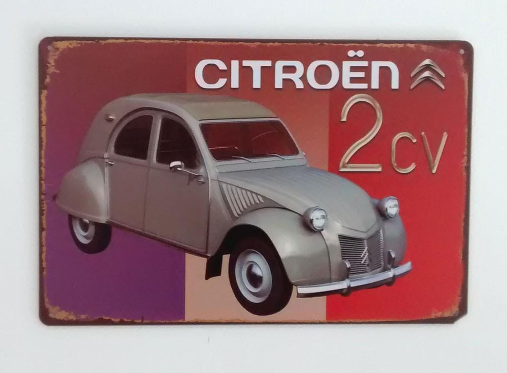 Cartel Metálico Citroen 2CV
