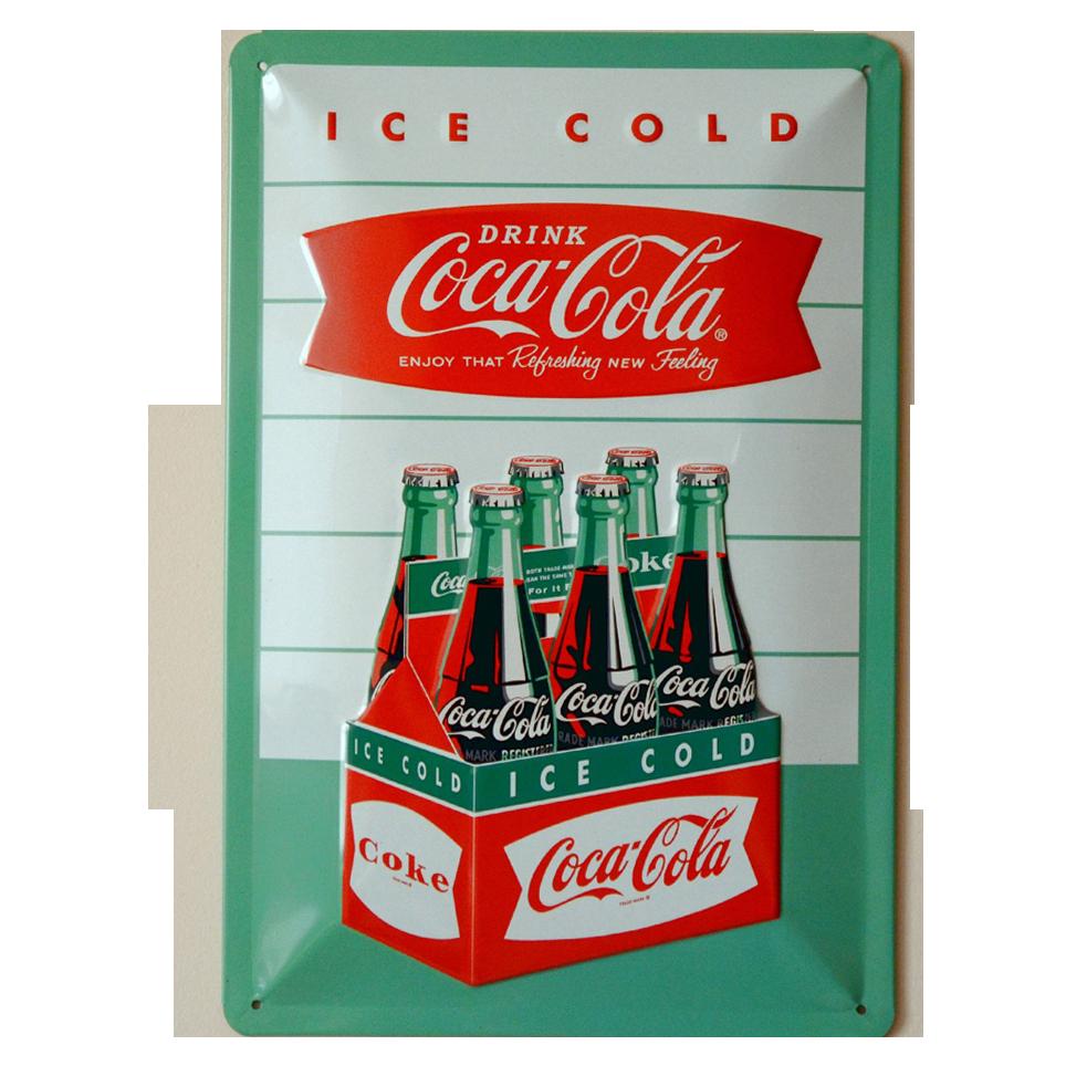Cartel Publicitario Coca Cola Ice Cold Caja