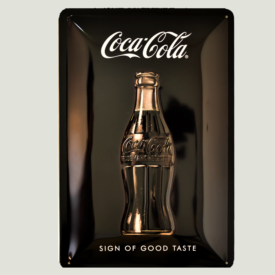 Cartel Metálico Coca Cola Sign of taste