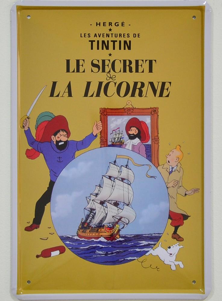 Cartel Metálico Tintín, el Secreto del Unicornio