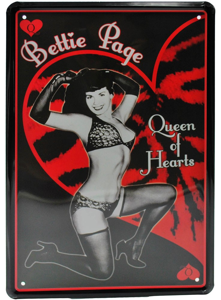 Cartel Metálico Bettie Page