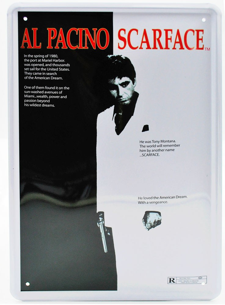 Cartel Metálico Scarface