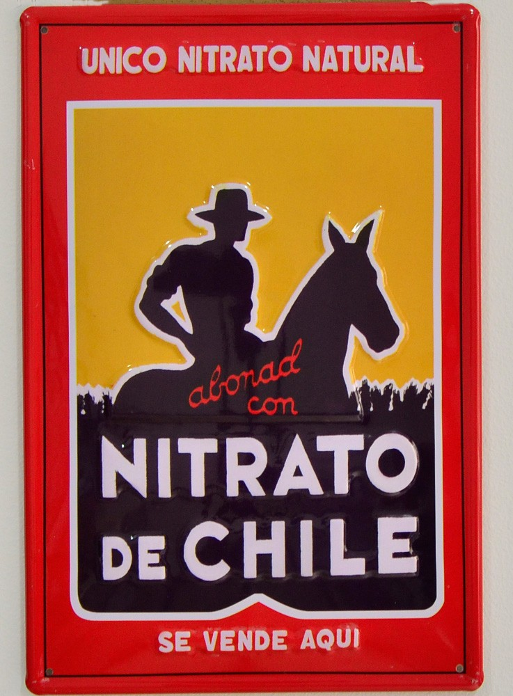 Cartel Publicitario Nitrato de Chile