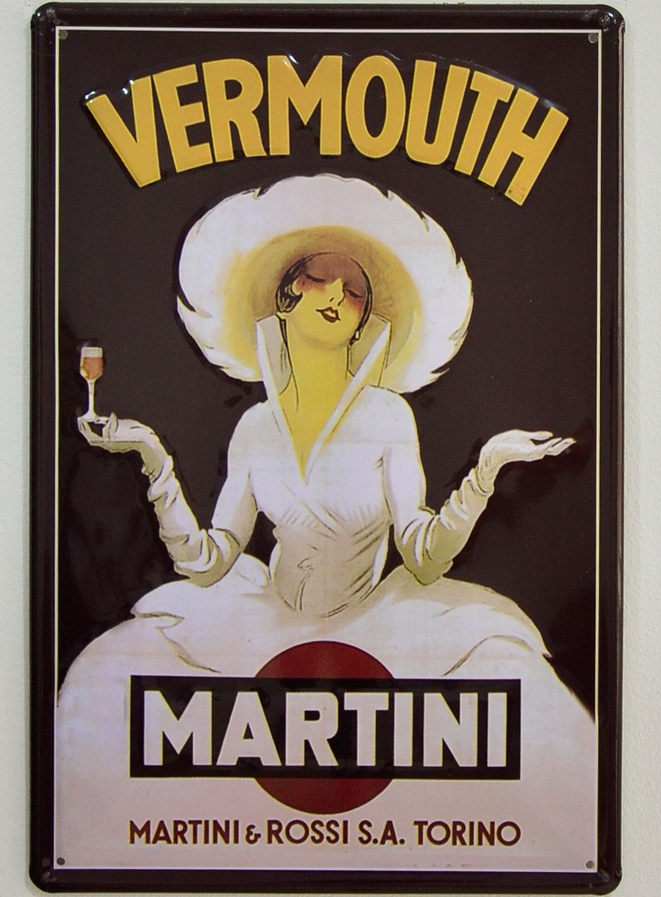 Cartel Publicitario Vermouth Martini