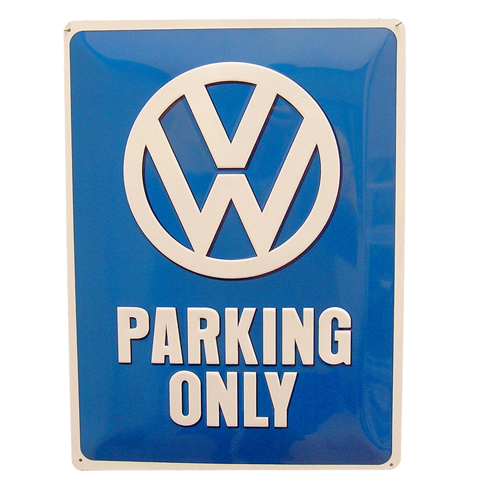 Cartel Publicitario VW Parking Only