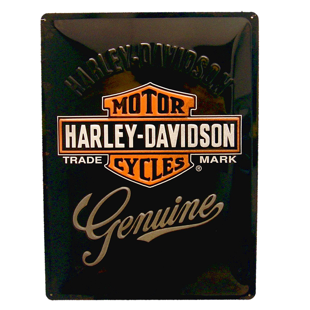 Cartel Publicitario Harley Logo Genuine