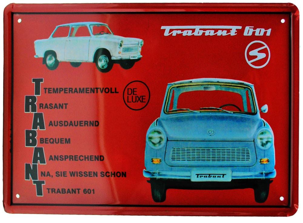 Cartel Metálico Trabant 601