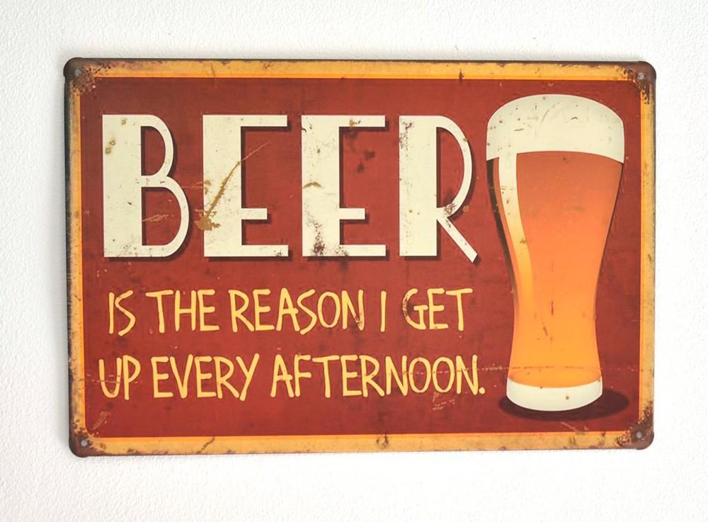 Cartel de Cerveza Beer, the reason...