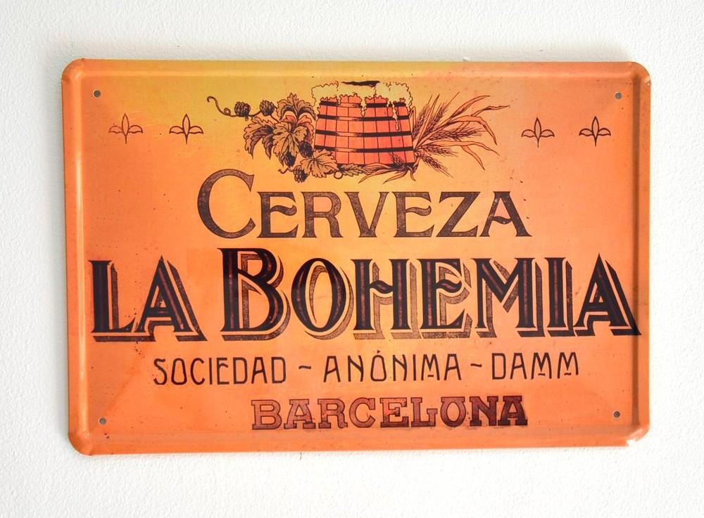 Cartel de Cerveza La Bohemia