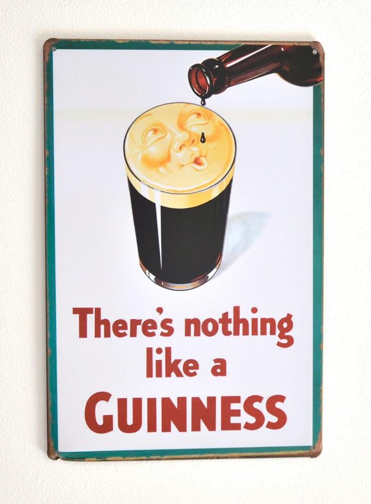 Cartel de Cerveza Guinness Pinta