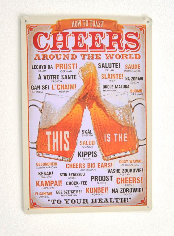 Cartel de Cerveza Beer Cheers