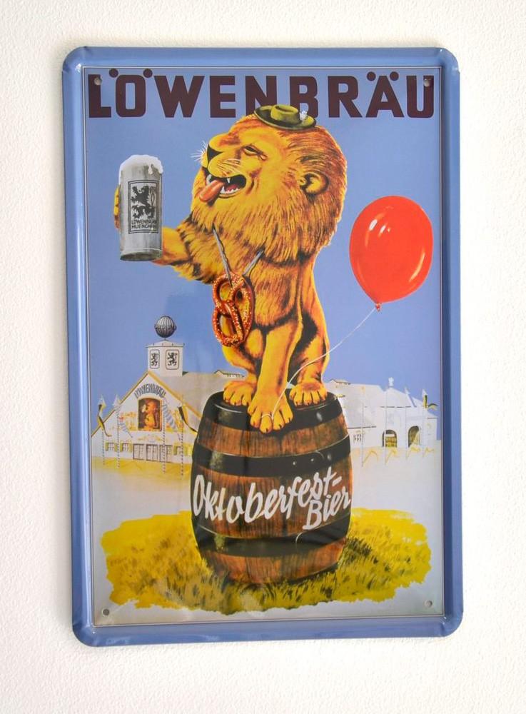 Cartel de Cerveza Löwenbräu