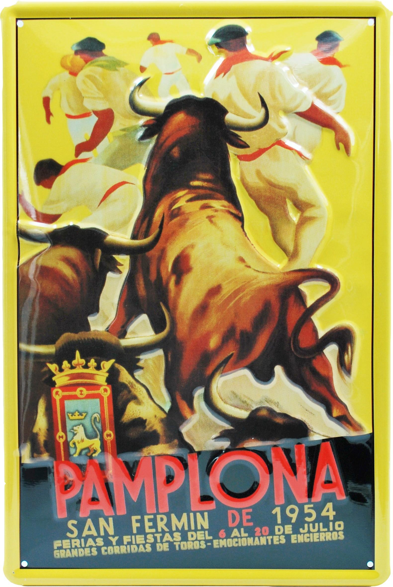 Cartel Metálico SanFermín 1954, Pamplona