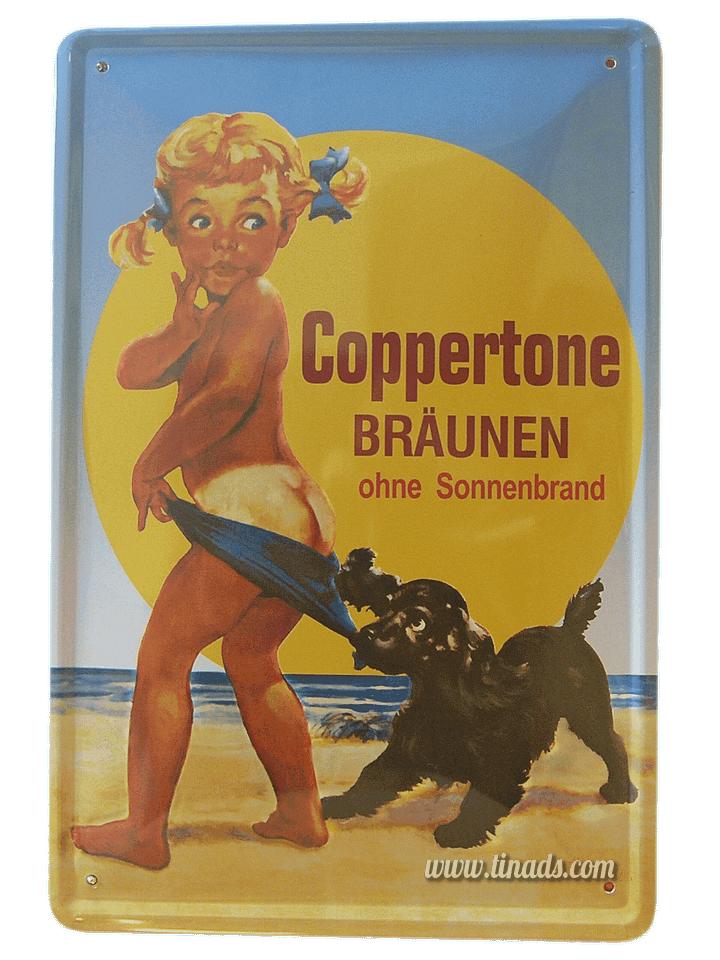 Cartel Publicitario Coppertone
