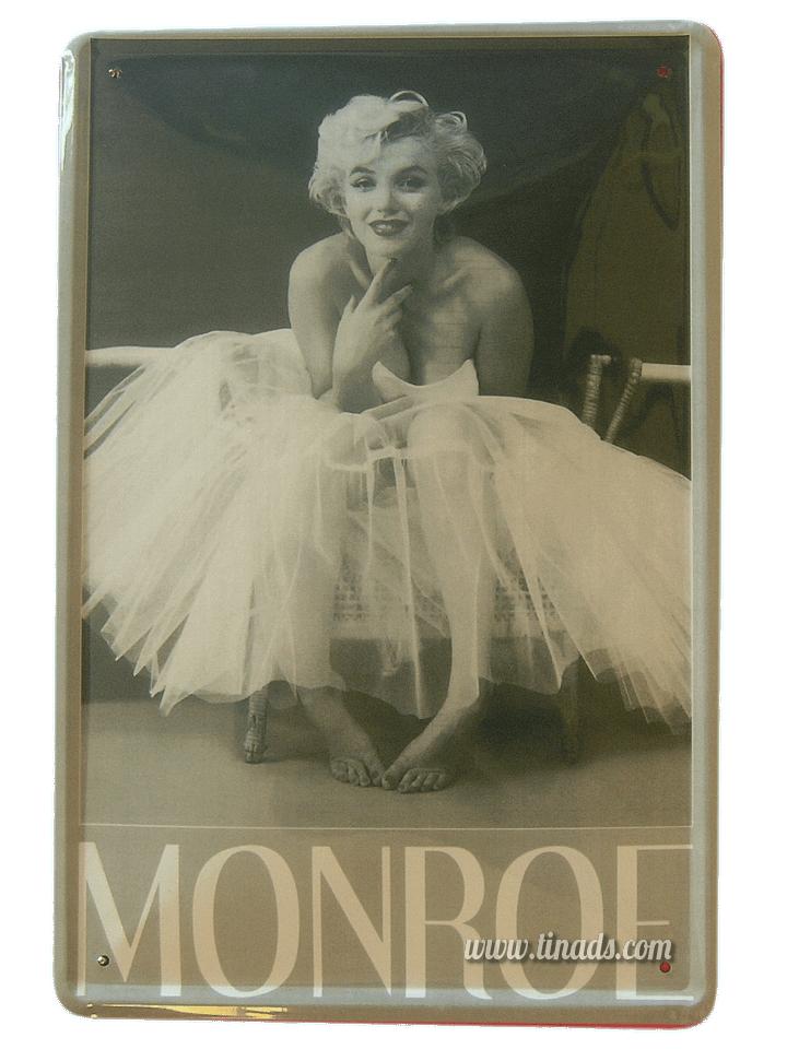 Cartel Metálico Marilyn (Milton Greene)