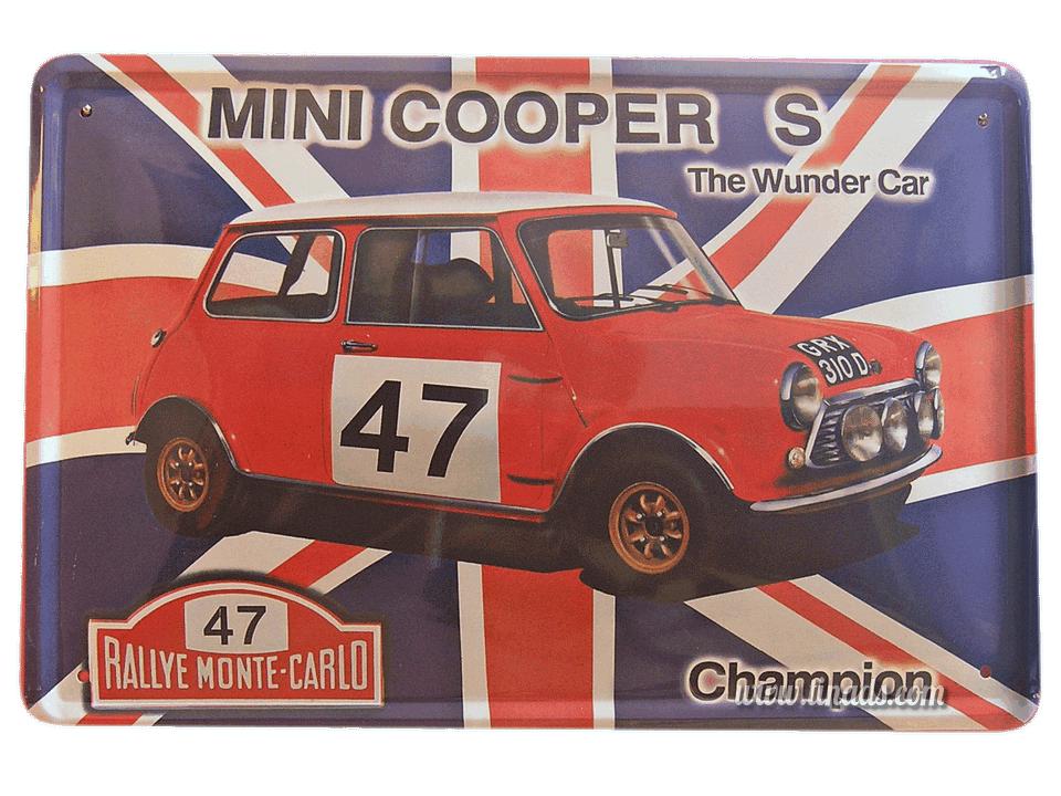Cartel Metálico Mini Cooper