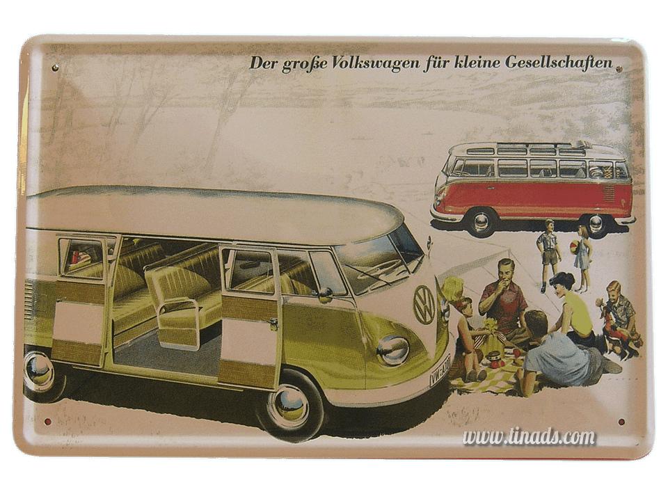 Cartel Publicitario Vw Bus