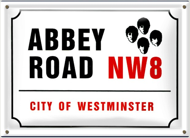 Postal Metálica Abbey Road