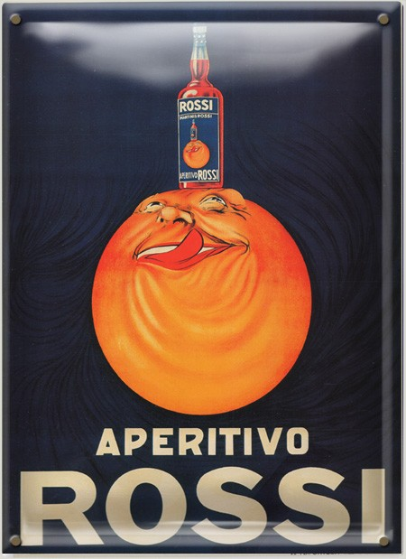 Postal Metálica Aperitivo Rossi