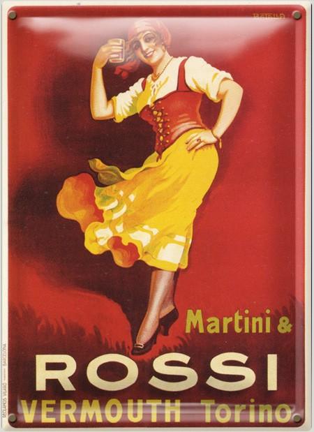 Postal Metálica Rossi Vermouth Torino