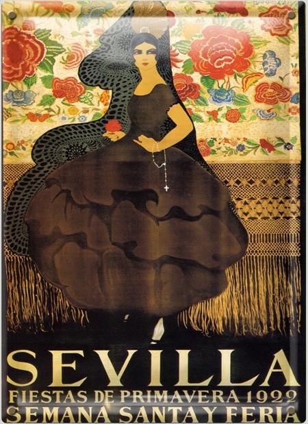 Postal Metálica Semana Santa Sevilla 1922