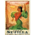 Postal Metálica Feria Sevilla 1954