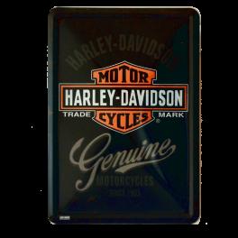 Postal Metalica Harley Davidson Genuine