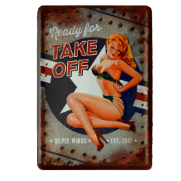 Postal Metalica Pin Up Take Off