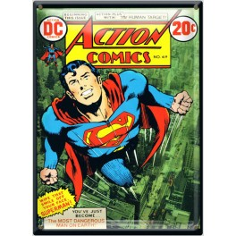 Postal Metálica Superman