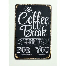 Cartel  Metálico Coffe Break
