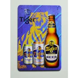 Cartel  Metálico Cerveza Tiger