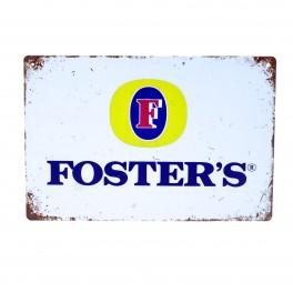 Cartel Metálico de Fosters