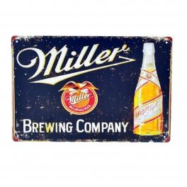Cartel Metálico de Miller negro