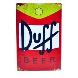 Cartel Metálico de Duff