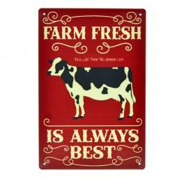 Cartel Metálico de Farm Fresh