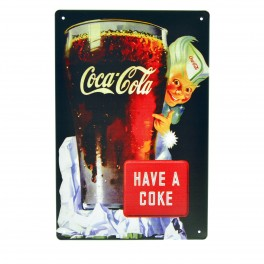 Cartel Metálico de Have a coke