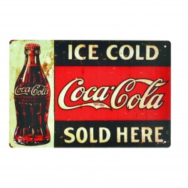 Cartel Metálico de Coca Cola Ice Cold