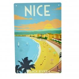 Cartel Metálico de Nice