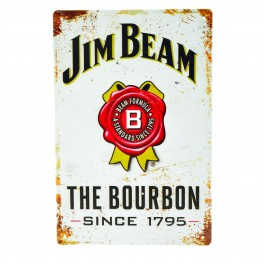 Cartel Metálico de Jim Beam