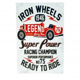 Cartel Metálico de Iron Wheels