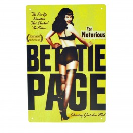 Cartel Metálico de The Notorius Bettie Page