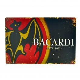 Cartel Metálico de Bacardi logo