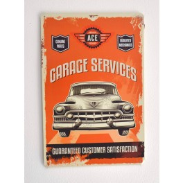 Cartel Metálico Garage Services